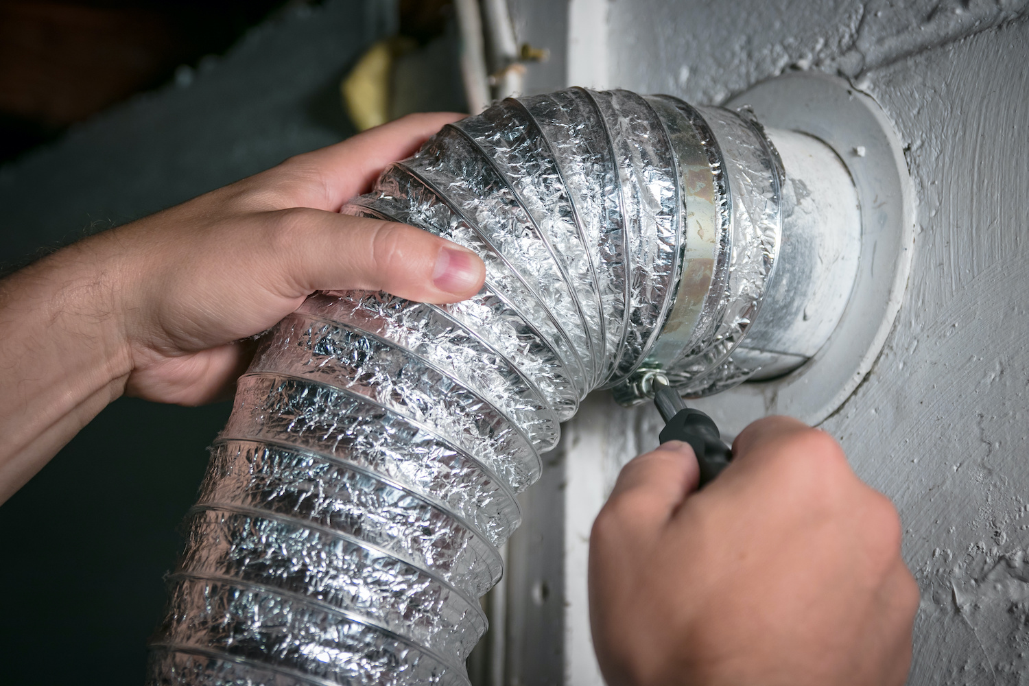 Dryer Vent Cleaning Install